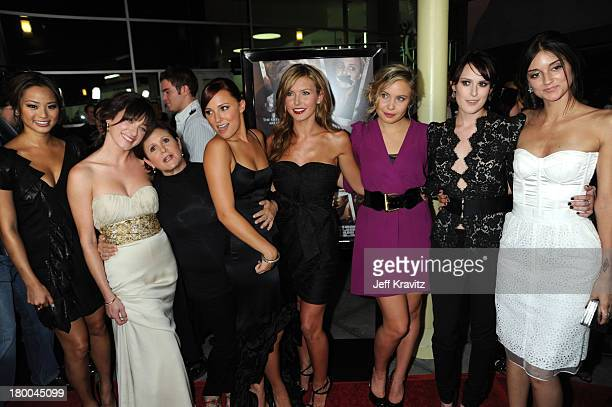 Actresses Jamie Chung Margo Harshman Carrie Fisher Briana Evigan Audrina Patridge Leah Pipes Rumer Willis and Caroline D'Amore arrive at Summit...