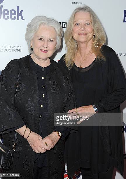 Actresses Jane Carr and Judy Geeson attend BritWeek's 10th Anniversary VIP Reception Gala at Fairmont Hotel on May 1 2016 in Los Angeles California