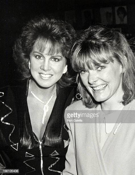 Actresses Jane Curtin and Jessica Hahn attending the opening night of 'A Walk in the Woods' on February 28 1988 at the Booth Theater in New York City...