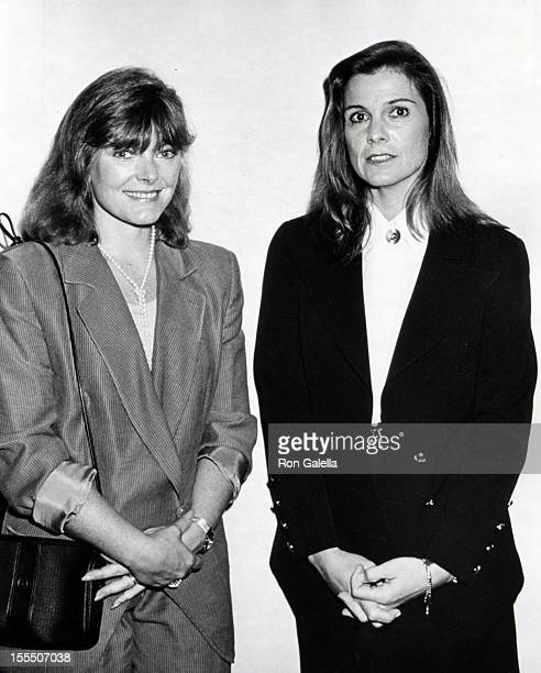Actresses Jane Curtin and Susan Saint James attend the premiere of Barbie Doll to benefit UNICEF on October 16 1989 at the United Nations Building in...