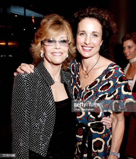 Actresses Jane Fonda and Andie MacDowell attend the 2006 International Documentary Association Achievement Awards gala at the Directors Guild of...