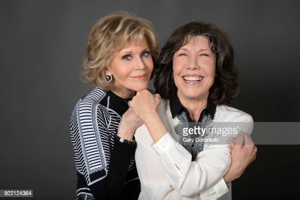 Actresses Jane Fonda and Lily Tomlin are photographed for Los Angeles Times on November 20, 2017 in Los Angeles, California. PUBLISHED IMAGE. CREDIT...