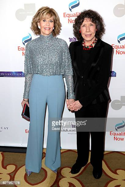Actresses Jane Fonda and Lily Tomlin arrive at Equality Now's 3rd Annual Make Equality Reality Gala at Montage Beverly Hills on December 5 2016 in...