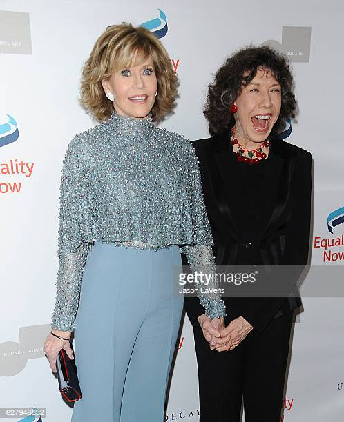 Actresses Jane Fonda and Lily Tomlin attend Equality Now's 3rd annual Make Equality Reality gala at Montage Beverly Hills on December 5 2016 in...