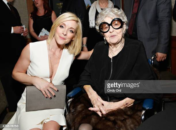 Actresses Jane Krakowski and Elaine Stritch attend the Elaine Stritch Shoot Me screening reception at Paley Center For Media on February 19 2014 in...