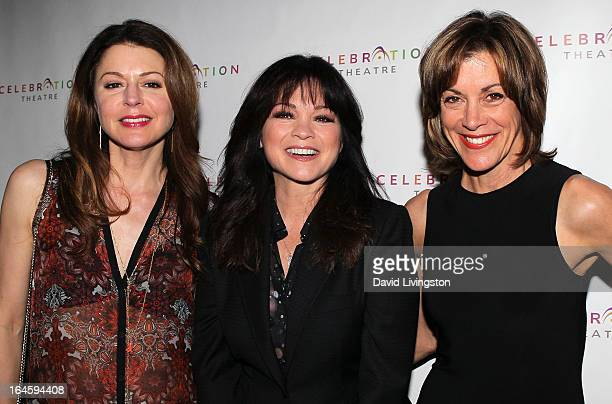 Actresses Jane Leeves Valerie Bertinelli and Wendie Malick attend the Celebration Theatre's 30 Years of Celebration benefit evening at The Colony...