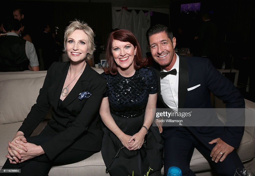 Actresses Jane Lynch, Kate Flannery and musician Tim Davis attend the MPTF 95th anniversary celebration with 'Hollywood's Night Under The Stars' at MPTF Wasserman Campus on October 1, 2016 in Los Angeles, California.