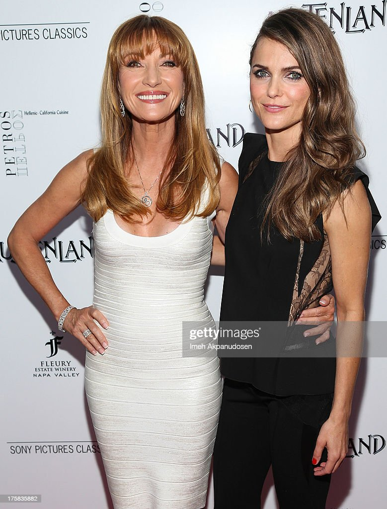 Actresses Jane Seymour (L) and Keri Russell attend the premiere of Sony Pictures Classics' 'Austenland' at ArcLight Hollywood on August 8, 2013 in Hollywood, California.