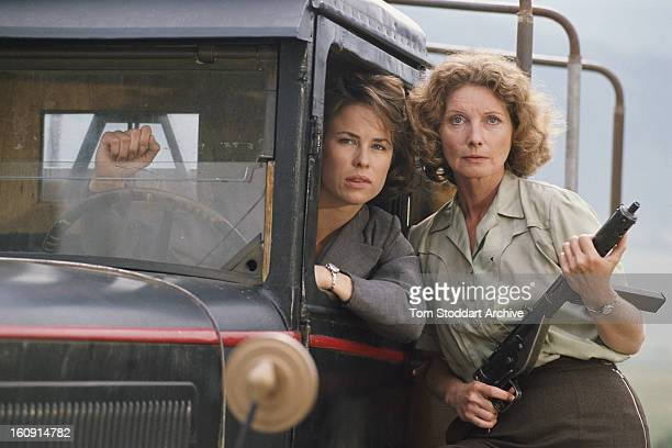 Actresses Jane Snowden and Catherine Schell as British undercover agents in France during World War II in an episode of the British TV drama series...