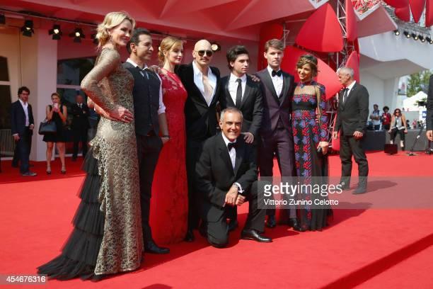 Actresses Janet Jones Gretzky, guest, Ahna O'Reilly, director James Franco and actors Jacob Loeb, Scott Haze, Elissa Shay and director of the Venice...