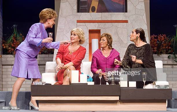 Actresses Jaqueline Andere Margarita Gralia Sylvia Pasquel and Isaura Espinoza in action during the play 'Entre Mujeres' based on the work of...