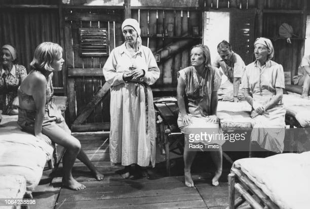 Actresses Jean Anderson and Patricia Lawrence in a scene from the television series 'Tenko' June 30th 1982