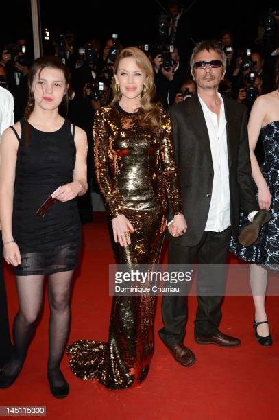 Actresses Jeanne Disson Kylie Minogue and director Leos Carax attend the Holy Motors Premiere during the 65th Annual Cannes Film Festival at Palais...