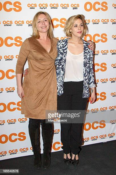 Actresses Jeanne Savary and Alysson Paradis attend the 'QI' Premiere at Forum Des Images on April 4 2013 in Paris France