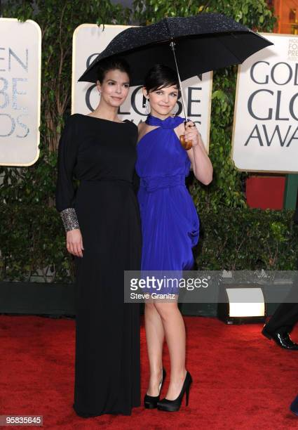 Actresses Jeanne Tripplehorn and Ginnifer Goodwin arrive at the 67th Annual Golden Globe Awards at The Beverly Hilton Hotel on January 17, 2010 in...
