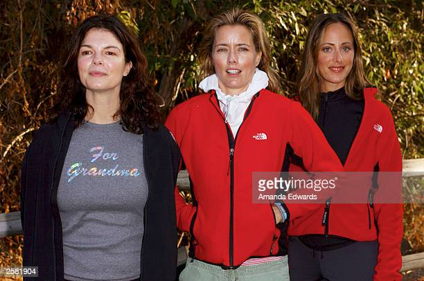 Actresses Jeanne Tripplehorn Tea Leoni and Kim Raver arrive for the 8th Annual Expedition Inspiration TakeAHike at Paramount Ranch in the Santa...