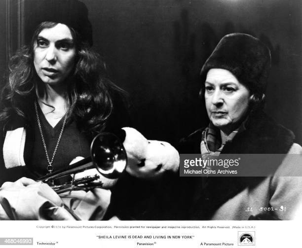 "Actresses Jeannie Berlin and Janet Brandt on set of the movie ""Sheila Levine Is Dead and Living in New York"" , circa 1975."