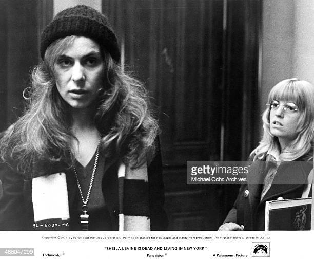 "Actresses Jeannie Berlin and Leda Rogers on set of the movie ""Sheila Levine Is Dead and Living in New York"" , circa 1975."