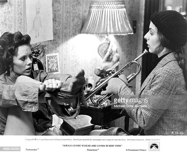 "Actresses Jeannie Berlin and Rebecca Dianna Smith on set of the movie ""Sheila Levine Is Dead and Living in New York"" , circa 1975."