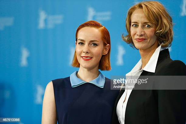 Actresses Jena Malone and Janet McTeer attend the 'Angelica' photocall during the 65th Berlinale International Film Festival at Grand Hyatt Hotel on...