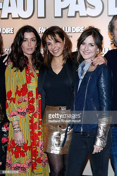 Actresses Jenifer Bartoli Tania Garbarski and Camille Chamoux attend the 'Faut pas lui dire' Paris Premiere at UGC Cine Cite Bercy on January 2 2017...