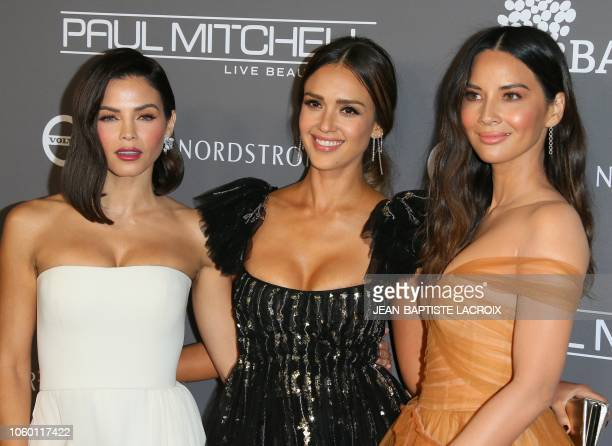 Actresses Jenna Dewan Jessica Alba and Olivia Munn attend the 2018 Baby2Baby Gala presented by Paul Mitchell at 3LABS in Culver City California on...