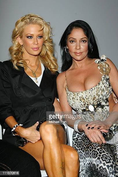 Actresses Jenna Jameson and Apollonia Kotero front row at Bow & Arrow Fall 2008 collection during Mercedes Benz LA Fashion Week held at Smashbox...