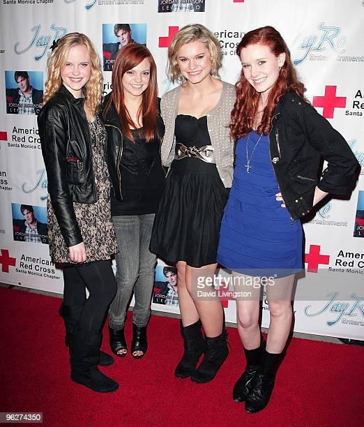 Actresses Jenna Leigh Hall Michelle DeFraites Kelly Heyer and Madisen Beaty attend Stephanie Pratt Jordan Johnson's PreGRAMMY Party at hwood on...