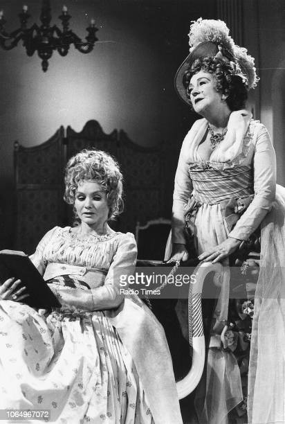 Actresses Jennie Linden and Beryl Reid in a scene from the BBC Play of the Month 'The Rivals' February 8th 1970