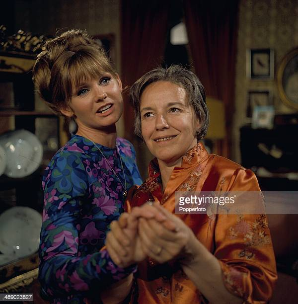 Actresses Jennie Linden and Maureen Pryor pictured together in a scene from the 1967 television drama 'Armchair Theatre The 45th Unmarried Mother' in...