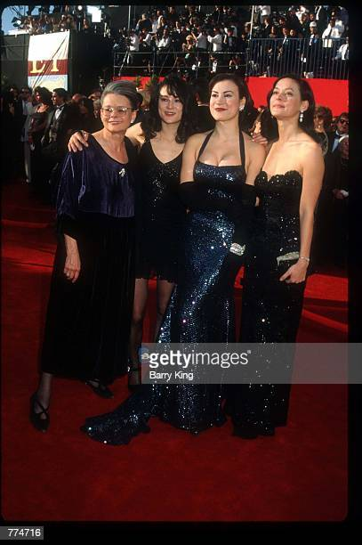 Actresses Jennifer and Meg Tilly stand with their family at the sixtyseventh Academy Awards March 27 1995 in Los Angeles CA After nearly...