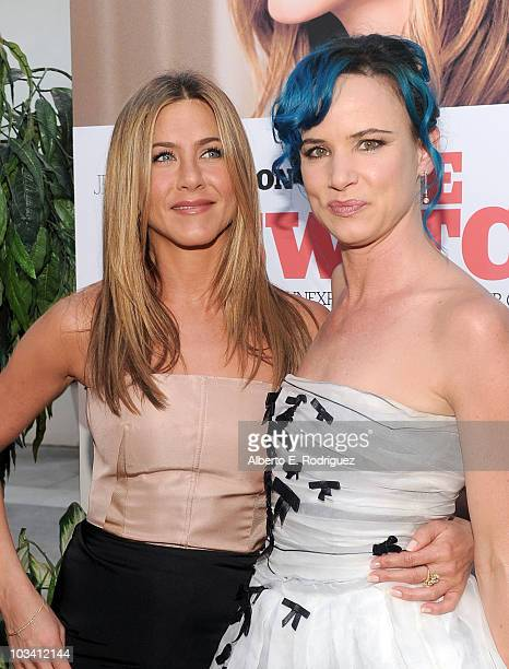 Actresses Jennifer Aniston and Juliette Lewis arrive at the premiere of Miramax's The Switch held at Arclight Hollywood at the Cinerama Dome on...
