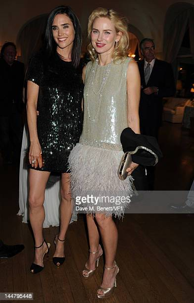 Actresses Jennifer Connelly and Naomi Watts attends the Vanity Fair And Gucci Party during the 65th Annual Cannes Film Festival at Hotel Du Cap on...