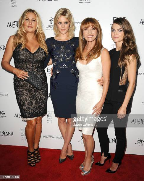 Actresses Jennifer Coolidge Georgia King Jane Seymour and Keri Russell attend the premiere of 'Austenland' at ArcLight Hollywood on August 8 2013 in...
