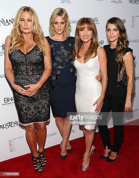 Actresses Jennifer Coolidge Georgia King Jane Seymour and Keri Russell attend the premiere of Sony Pictures Classics' 'Austenland' at ArcLight...
