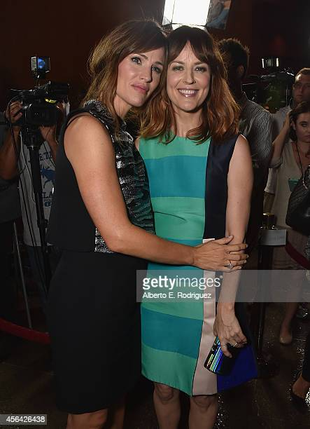 Actresses Jennifer Garner and Rosemarie DeWitt attend the premiere of Paramount Pictures' Men Women Children at Directors Guild of America on...