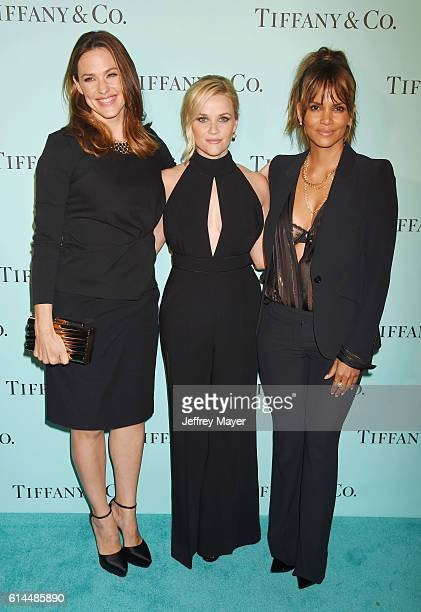 Actresses Jennifer Garner, Reese Witherspoon and Halle Berry arrive at the Tiffany And Co. Celebrates Unveiling Of Renovated Beverly Hills Store at...