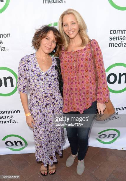 Actresses Jennifer Grey and Lisa Kudrow attend the 2nd Annual GameOn fundraiser hosted by Common Sense Media at Sony Pictures Studios on September 29...