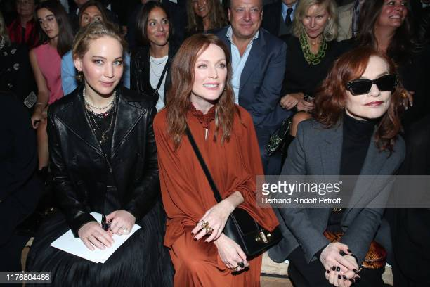 Actresses Jennifer Lawrence Julianne Moore and Isabelle Huppert attend the Christian Dior Womenswear Spring/Summer 2020 show as part of Paris Fashion...