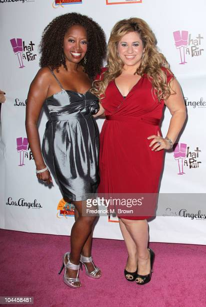 Actresses Jennifer Leigh Warren and Marissa Jaret Winokur attend the Eighth annual What A Pair celebrity concert to benefit the John Wayne Cancer...