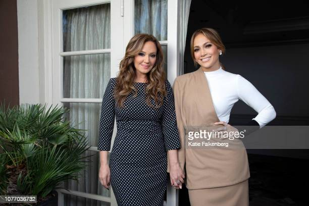 Actresses Jennifer Lopez and Leah Remini are photographed for Los Angeles Times on December 10, 2018 in Beverly Hills, California. PUBLISHED IMAGE....