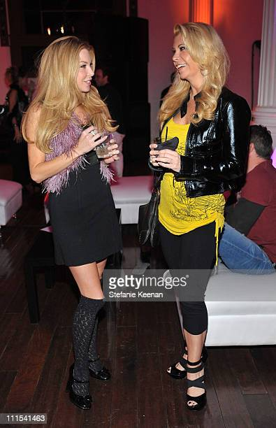 Actresses Jennifer Lyons and Shari Eckert attends the grand opening of 'Pandora' at Vibiana on October 27 2009 in Los Angeles California