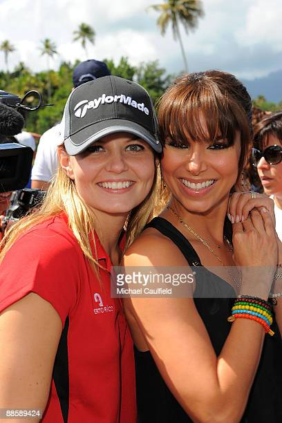 Actresses Jennifer Morrison and Roselyn Sanchez attend the Amaury Nolasco Friends Golf Classic at Bahia Beach on June 19 2009 in San Juan Puerto Rico