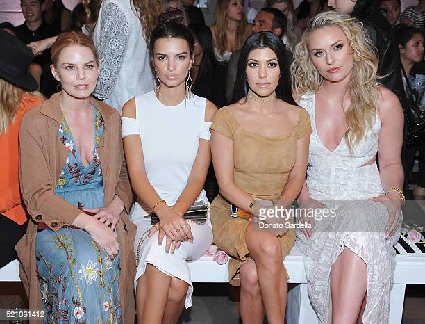 Actresses Jennifer Morrison Emily Ratajkowski TV personality Kourtney Kardashian and professional skiier Lindsey Vonn attend the alice olivia by...