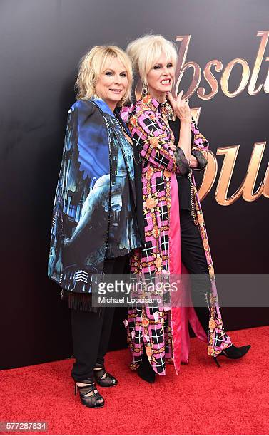"""Actresses Jennifer Saunders and Joanna Lumley attend the """"Absolutely Fabulous: The Movie"""" New York premiere at SVA Theater on July 18, 2016 in New..."""