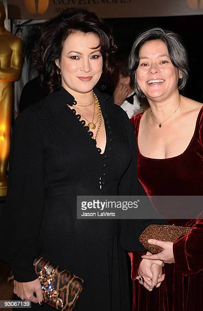 Actresses Jennifer Tilly and Meg Tilly attend the Academy Of Motion Pictures And Sciences' 2009 Governors Awards Gala at the Grand Ballroom at...