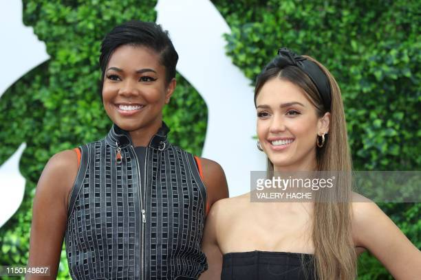 US actresses Jessica Alba and Gabrielle Union pose during a photocall for the TV show La's finest as part of the 59th MonteCarlo Television Festival...