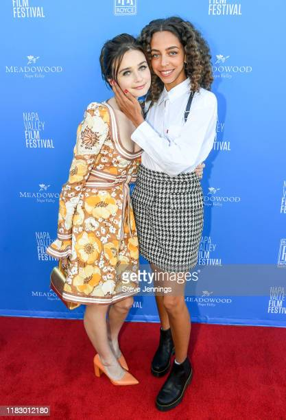 Actresses Jessica Barden and Hayley Law attend the Rising Star Showcase at the Napa Valley Film Festival at Materra Cunat Family Vineyards on...