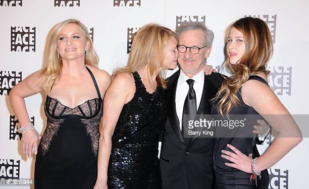 Actresses Jessica Capshaw Kate Capshaw director Steven Spielberg and Destry Allyn Spielberg attend the 63rd Annual ACE Eddie Awards at The Beverly...