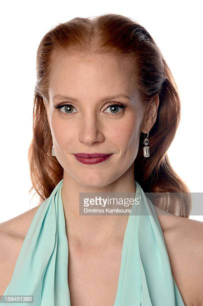 Actresses Jessica Chastain winner of Best Performance by an Actress in a Motion Picture Drama Award for Zero Dark Thirty poses for a portrait at the...